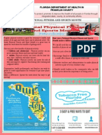 Wellness Newsletter for the Florida Department of Health in Franklin County.