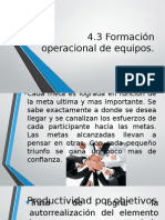 4.3 Formacion Operacional de Equipos
