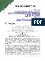 Concepto de Semiótica - Magariños de Morantín