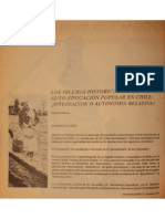 Los Dilemas Hlstorlcos de La Auto-educacion Popular - Salazar - Nº15