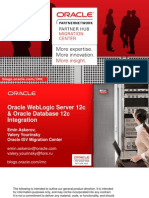 OracleDB12 Integration With OracleWL12c