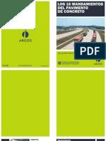 Los 10 Mandamientos de Los Pavimentos de Concreto
