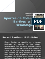 Aportes de Roland Barthes a La Semiología