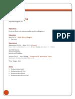 resume (tecm 2700)