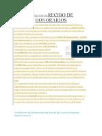DEFINICIÓN DERECIBO DE HONORARIOS