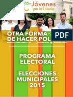 Programa electoral de JpC para las Municipales de 2015