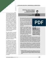 Reflexiones sobre el Informe Nacional del Estado del Ambiente 2012 - 2013