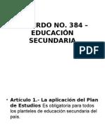 Acuerdo No 384 Secundaria (1)