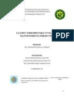 CLAVES Y ERRORES PARA UN PLAN DE MANTENIMIENTO PREDICTIVO