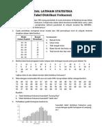 Soal Latihan - Tabel Distribusi Frekuensi