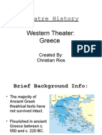 Theater History Western Greek
