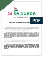 Programa Electoral Sí Se Puede San Sebastián de La Gomera 2015