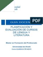Planificacion  docente Alcala
