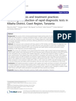 Malaria diagnosis and treatment practices following introduction of rapid diagnostic tests in Kibaha District, Coast Region, Tanzania