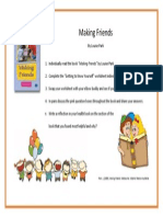 making friends- student task card