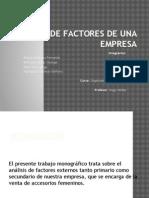 Analisis de Factores de Una Empresa