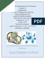 ¿Que es la web 1.0,2.0 y 3.0? y los diferentes tipos de software ,etc.