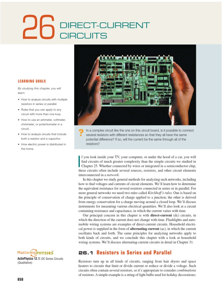 Circuits Electrical Network Series And Parallel Circuit Board Resistors
