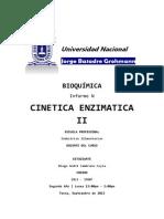 Cinetica Enzimatica II