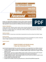 FFF Athlete Development Series Info Pack MayJun15