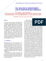EXPERIMENTAL ANALYSIS OF AERODYNAMICS CHARACTERISTICS OF ADAPTATIVE MULTI-WINGLETS