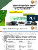 Presentasi Ujian PKL Abdul Halim (E1F111205), Pengelolaan Limbah Padat Industri CPO