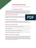 Las 5 Funciones de Promoción de La Salud
