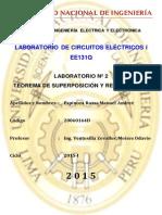 Informe Final 2 - Superposicion y Reciprocidad en circuitos electricos