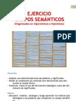 CAMPOS SEMÁNTICOS - EJERCICIO - Hipónimos e hiperónimos