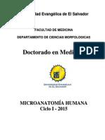 Programación Analítica de Microanatomía Humana Doctorado en Medicina Ciclo I - 2015(1)