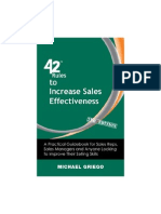 (42 Rules) Michael Griego,Laura Lowell-42 Rules to Increase Sales Effectiveness. a Practical Guidebook for Sales Reps, Sales Managers and Anyone Looking to...-Happy About_Super Star Press (2009)