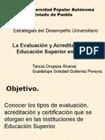 Evaluacion y Acreditacion de La Ies Final