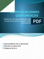 Complicaciones Post Quirurgicas respiratorias