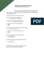 Transformasi Data Ordinal Ke Interval dengan EXCEL