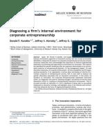Diagnosing a Firm's Internal Environment