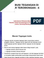 6 Tegangan Insitu & Distribusi Tegangan Terowongan Kuliah
