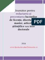 Indrumator-redactare Si Prezentare Licenta-disertatie