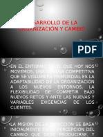 Desarrollo de La Organización y Cambio