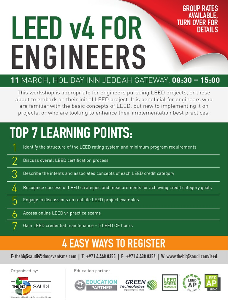 Leed V4 For Engineers Leadership In Energy And Environmental