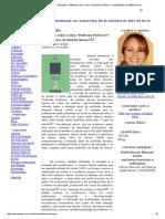 """Revista Virtual Partes - Educação - Refletindo Sobre a Obra """"Profissão Professor""""_ Contribuições de Antônio Nóvoa"""
