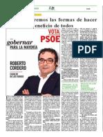 Entrevista  a Roberto Cordero en A21