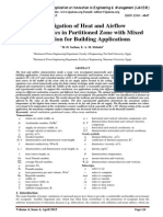 Investigation of Heat and Airflow Characteristics in Partitioned Zone with Mixed Ventilation for Building Applications