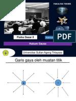 Fisika Dasar II 5 Hukum Gauss