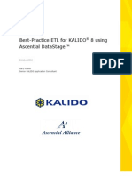 Best-Practice ETL for KALIDO® 8 Using Ascential