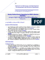 Weekly Political Events Regarding the SPDC's Election (002-2010)