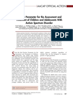 Practice Parameter for the Assessment and Treatment of Children and Adolescents With Autism Spectrum Disorder