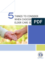 5 Things to Consider When Choosing an Elder Care Solution