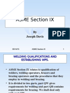 Outline of Articles in ASME Section IX