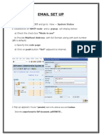 Email Set Up in sap
