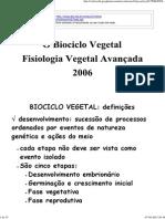 O Biociclo Vegetal